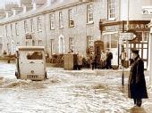 Flooding in Tiverton, 1960